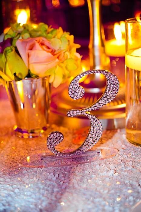 Table Numbers That Sparkle!