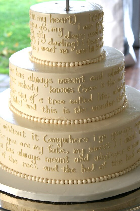 A Wedding Cake in Words