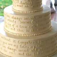 A Wedding Cake in Words...