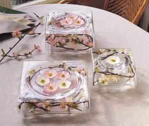 Wedding Centerpieces Using Square Bowls