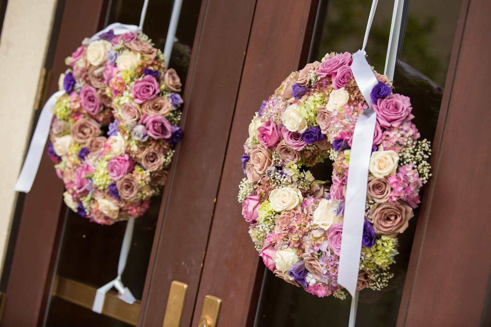 Ceremony Decor - Wreaths for the Chruch Doors |