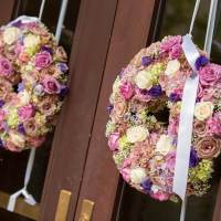 Ceremony Decor - Wreaths for the Chruch Doors