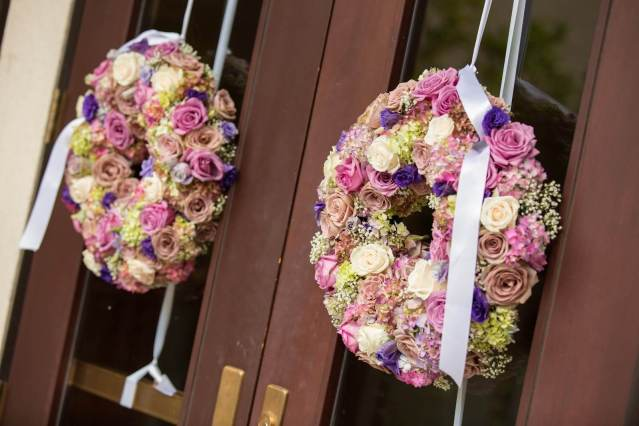 Wedding Ceremony Decor for Church Doors