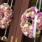 Ceremony Decor – Wreaths for the Chruch Doors