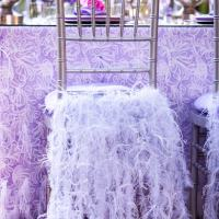 Gorgeous Lavender Reception Tables - at a Rustic Wedding