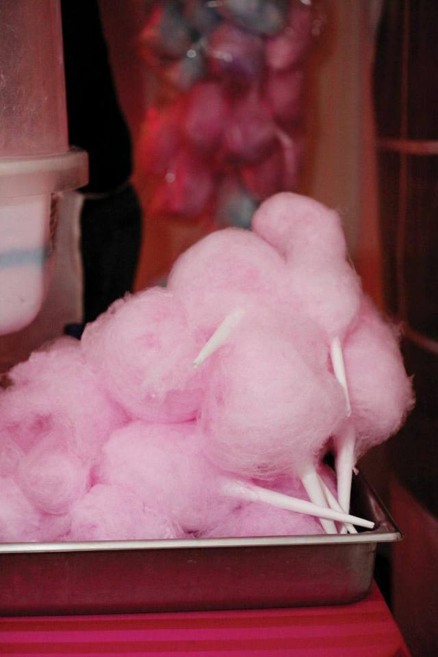Pink Cotton Candy Wedding Favors