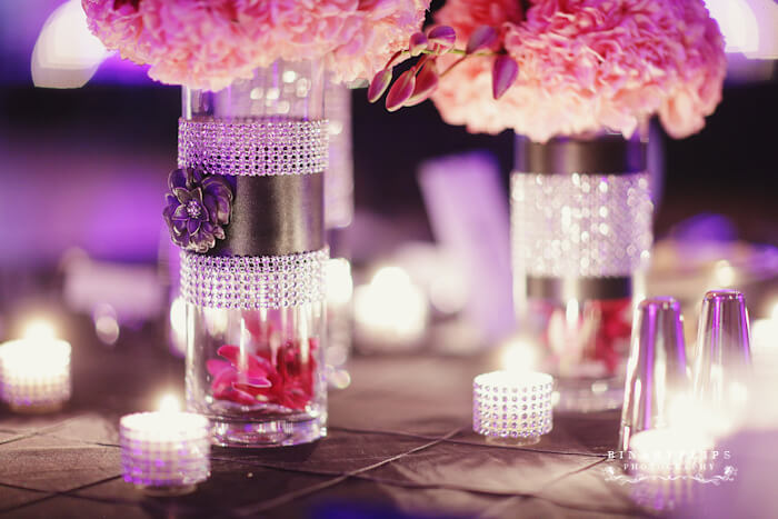 Diy carnations centerpieces in cylnder vases designs