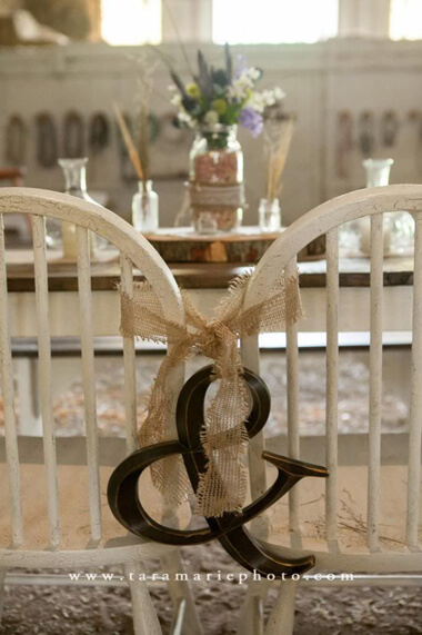 Wedding chair back decoration ideas for bride and groom
