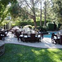 Elegant Back Yard Wedding Reception on a Budget
