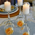 Upside Down Wine Glass Wedding Centerpiece – EASY Wedding DIY!