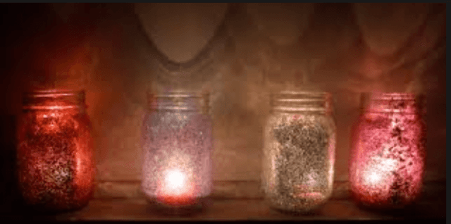 How to make glitter jar candle holders