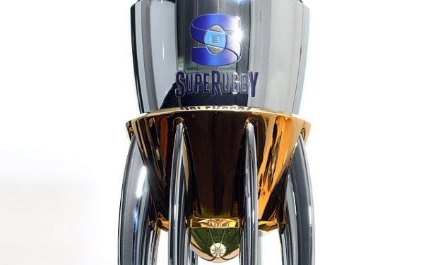 A close up of the new Super Rugby Trophy