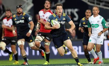 Ben Smith in action for the Highlanders against the Lions