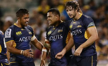 Sam Carter (R) says the Brumbies real test will be away from home