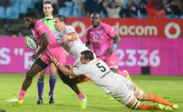 Jamba Ulengo on the charge for the Bulls against the Cheetahs