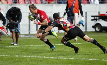Ruan Combrinck scored a brace of tries for the Lions