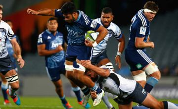 Akira Ioane on the burst for the Blues against the Force