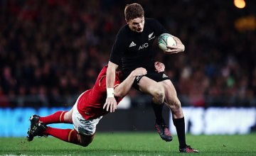 Beauden Barrett scored two tries for New Zealand
