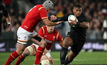 Waisake Naholo scored two tries for New Zealand in the first Test