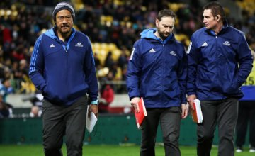 Coach Tana Umaga and assistant coaches Alistair Rogers and Glenn Moore