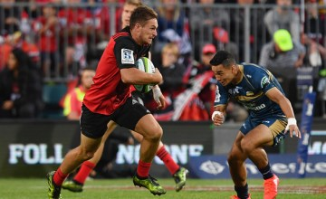 George Bridge of Super rugby's Crusaders against the Brumbies