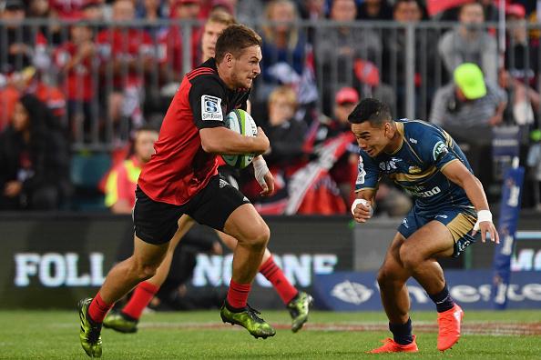 George Bridge of Super rugby's Crusaders against the Brumbies