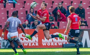 Ruan Combrinck of Super rugby's Lions wins possession