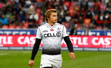 at Lambie (captain) of the Sharks during the Super Rugby match between Southern Kings and Cell C Sharks