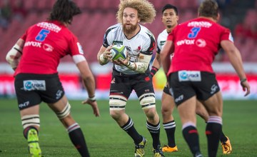 Sunwolves Willie Britz (C) moves to No.8 for this week's Super Rugby match