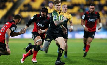 Jordie Barrett of the Hurricanes will play Super Rugby against the Crusaders at centre