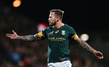 Francois Hougaard of South Africa reacts during the Rugby Championship