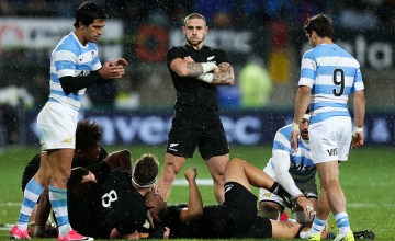 TJ Perenara of New Zealand shows his disappointment after losing the ball to Argentina during The Rugby Championship match