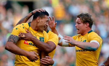 Australia's Israel Folau will start on the wing in the Rugby Championship