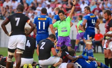 Super Rugby match referee Shuhei Kubo