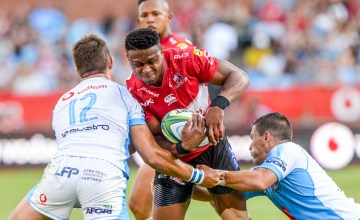 Aphiwe Dyantyi of the Lions has flown to New Zealand for the Super rugby final