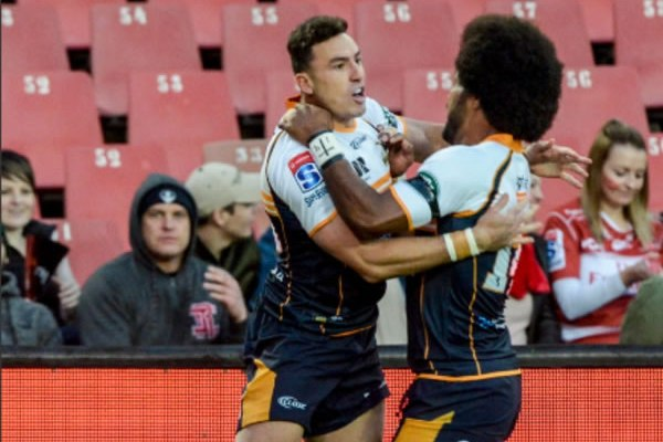 Brumbies fullback Tom Banks scored the final try of the match