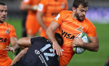 Ramiro Moyano of the Jaguares during the Super Rugby match between Cell C Sharks and Jaguares