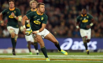 Handre Pollard starts at 10 foir South Africa in the Rugby Championship