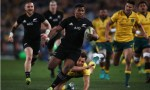 Waisake Naholo of the All Blacks runs away to score a try during The Rugby Championship Bledisloe Cup match between the Australian Wallabies and the New Zealand All Blacks at ANZ Stadium