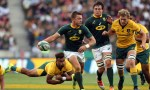 Handre Pollard in action for South Africa against Australia