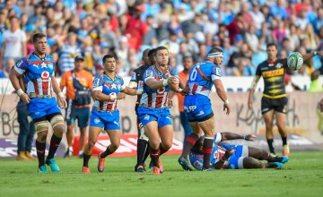 Handre Pollard of the Vodacom Bulls during the Super Rugby match between Vodacom Bulls and DHL Stormers