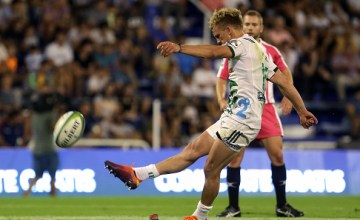 Damian McKenzie kicked the Chiefs to victory over the Jaguares in Buenos Aires