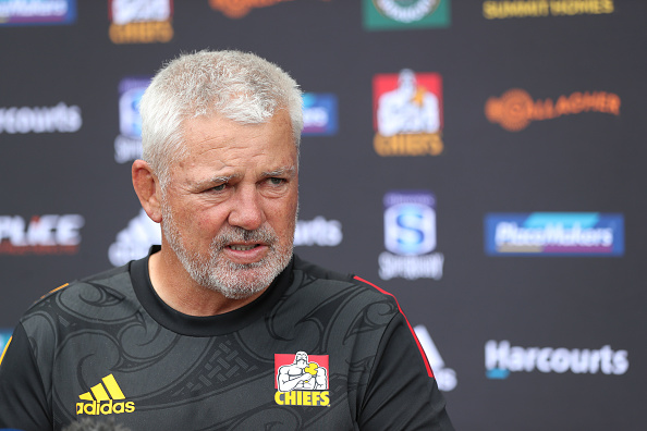 Chiefs Head Coach Warren Gatland speaks to the media during a Chiefs Super Rugby media opportunity