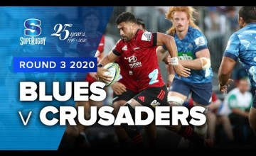 Blues v Crusaders Rd.3 2020 Super rugby video highlights