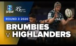 Brumbies v Highlanders Rd.3 2020 Super rugby video highlights