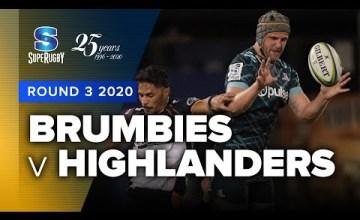 Brumbies v Highlanders Rd.3 2020 Super rugby video highlights