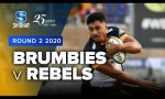 Brumbies v Rebels Rd.2 2020 Super rugby video highlights