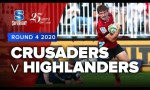 Crusaders v Highlanders Rd.4 2020 Super rugby video highlights