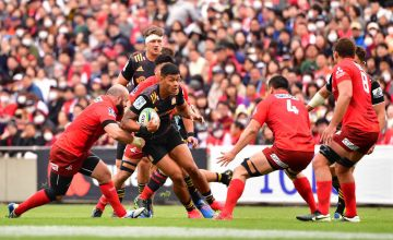 Solomon Alaimalo scored once and gifted a try to Damian McKenzie in the Chiefs bonus-point win over a spirited Sunwolves at Prince Chichibu Stadium, Tokyo