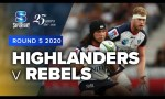 Highlanders v Rebels Rd.5 2020 Super rugby video highlights